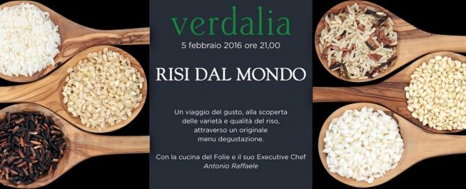 """Al Verdalia, un viaggio del gusto alla scoperta dei """"Risi del Mondo"""""""
